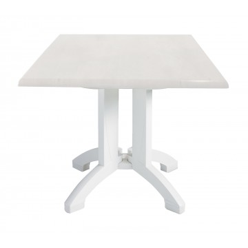 "Atlanta 36"" Square Table White"