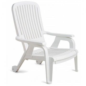 Bahia Stacking Deck Chair White