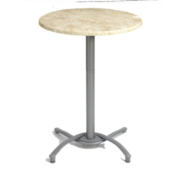 Bar Height Aluminum Table Base Silver Gray