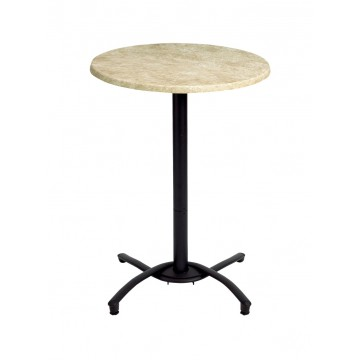 Bar Height Aluminum Table Base Black