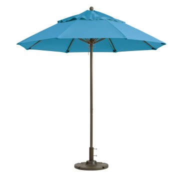 Windmaster 9ft Fiberglass Umbrella Sky Blue