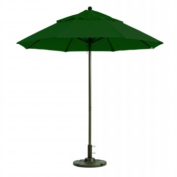 Windmaster 9ft Fiberglass Umbrella Forest Green