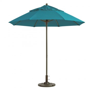 Windmaster 9ft Fiberglass Umbrella Turquoise