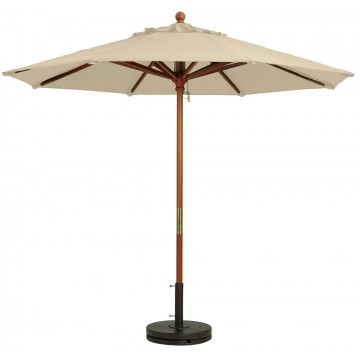 "9ft Market Umbrella w/ 1 1/2"" Pole Khaki"
