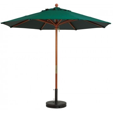 "9ft Market Umbrella w/ 1 1/2"" Pole Forest Green"