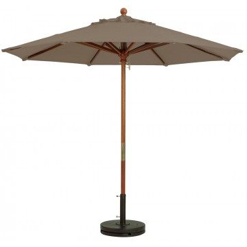 "9ft Market Umbrella w/ 1 1/2"" Pole Taupe"