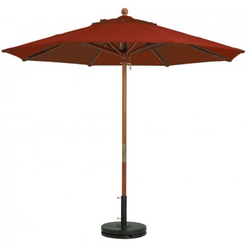 "9ft Market Umbrella w/ 1 1/2"" Pole Terra Cotta"