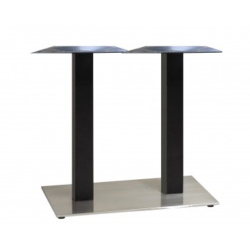 "Beta Lateral Base 16""x28"" Black/Stainless Steel"