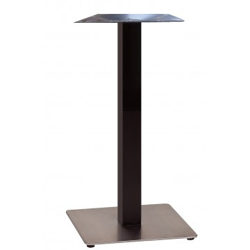 "Beta Bar Height Base 18""x18"" Black Column/Stainless Steel Base"