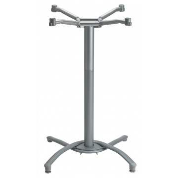 Boomerang Bar Height Base Silver Gray