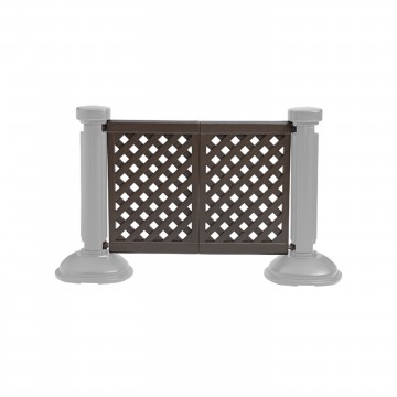 2-Panel Section of Portable Fencing Brown