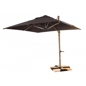 10' Cantilever Square Charcoal Gray