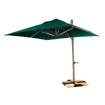 10' Cantilever Square Forest Green