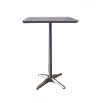 Sunset Bar Height Table Concrete/Platinum Gray