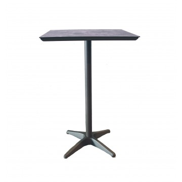 Sunset Bar Height Table Granite/Volcanic Black