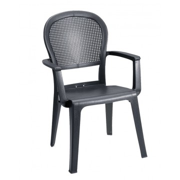 Seville Highback Armchair Charcoal