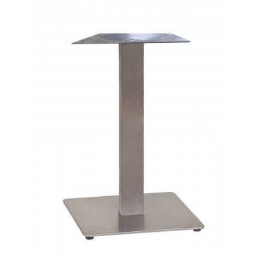 "Gamma Base Dining Height 18""x18"" Silver Gray"
