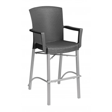 Havana Barstool with Arms Charcoal