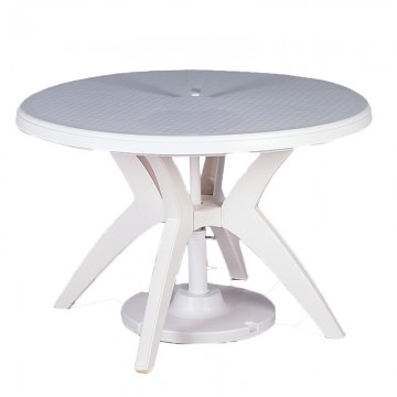 "Ibiza 46"" Round Table White"