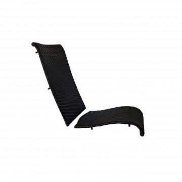 JAVA All-Weather Wicker Folding Chair Replacement Frame Espresso
