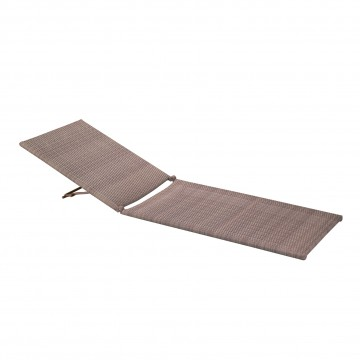 JAVA All Weather Wicker Chaise Replacement Frame Mocaccino