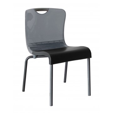 Krystal Sidechair Smoke/Charcoal