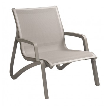 Sunset Lounge Chair Solid Gray/Platinum Gray
