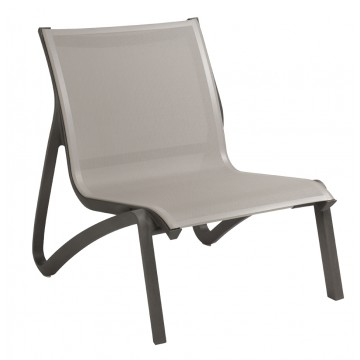 Sunset Lounge Chair Solid Gray/Volcanic Black