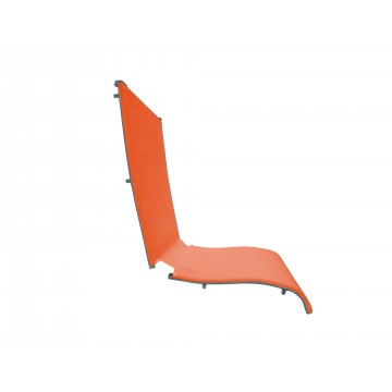 Jamaica Beach Folding Chair Replacement Sling Orange/Silver Gray