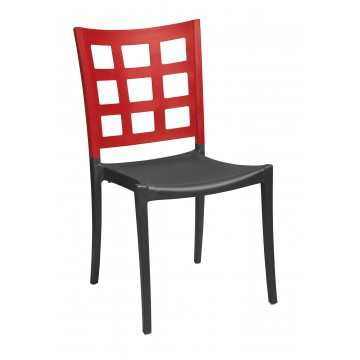Plazza Sidechair Apple Red/Charcoal