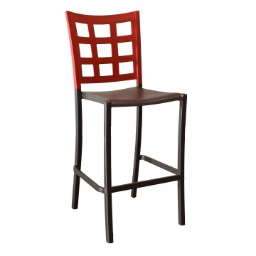 Plazza Barstool Apple Red/Charcoal