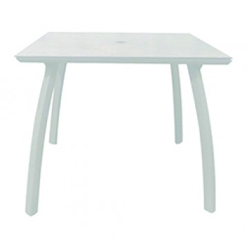 "36"" Square Sunset Table Glacier White"