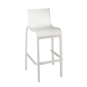 Sunset Armless Barstool White/Glacier White