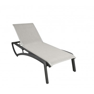 Sunset Chaise Lounge Beige/Volcanic Black