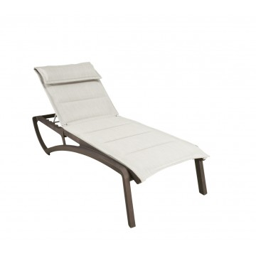 Sunset Comfort Chaise Lounge Beige/Fusion Bronze
