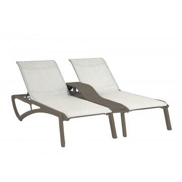 Sunset Duo Chaise Beige/Fusion Bronze