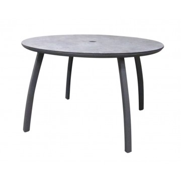 "48"" Round Sunset Table Volcanic Black"