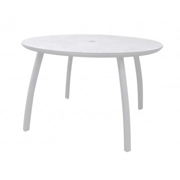 "48"" Round Sunset Table Glacier White"