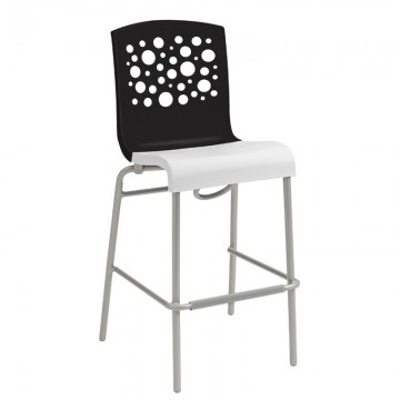 Tempo Stacking Barstool Black