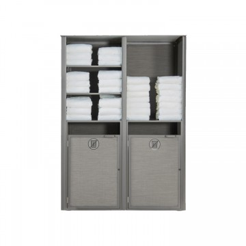 Sunset Towel Valet Double Unit Solid Gray/Platinum Gray