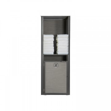 Sunset Towel Valet Single Unit Solid Gray/Volcanic Black