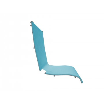 Jamaica Beach Folding Chair Replacement Sling Turquoise/Silver Gray