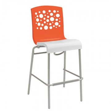 Tempo Stacking Barstool Orange