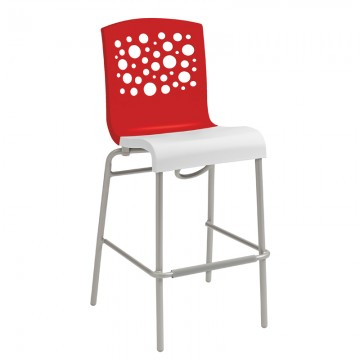 Tempo Stacking Barstool Red