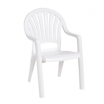Pacific Fanback Armchair White