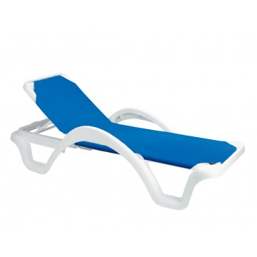 Catalina Adjustable Sling Chaise Blue