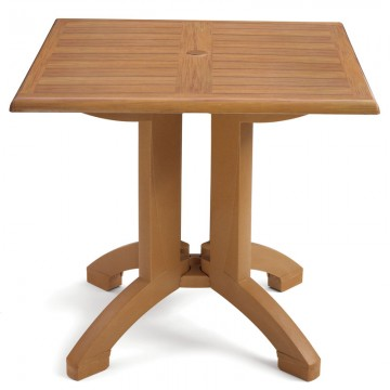 "Winston 32"" Square Table Teak Decor"