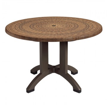 "Sumatra 42"" round Table Wicker Decor"
