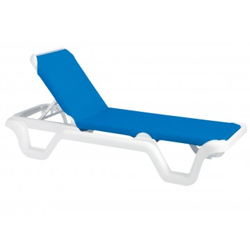 Marina Adjustable Sling Chaise Lounge Blue