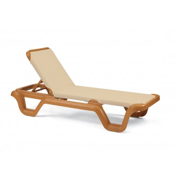 Marina Adjustable Sling Chaise Lounge Khaki